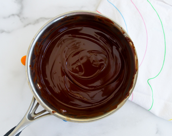 melted chocolate and butter