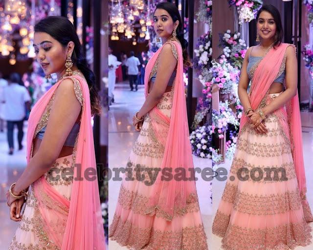Shivatmika Baby Pink Half Saree
