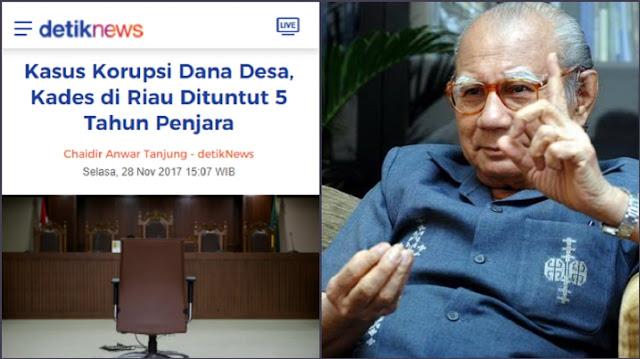 Edhy Korupsi Miliaran Dituntut Hukum sama dengan Kades yang Korupsi Rp399 juta, Emil Salim: Adilkah?