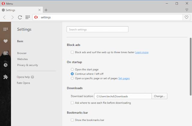 مستعرض الويب Opera للكمبيوتر اخر اصدار