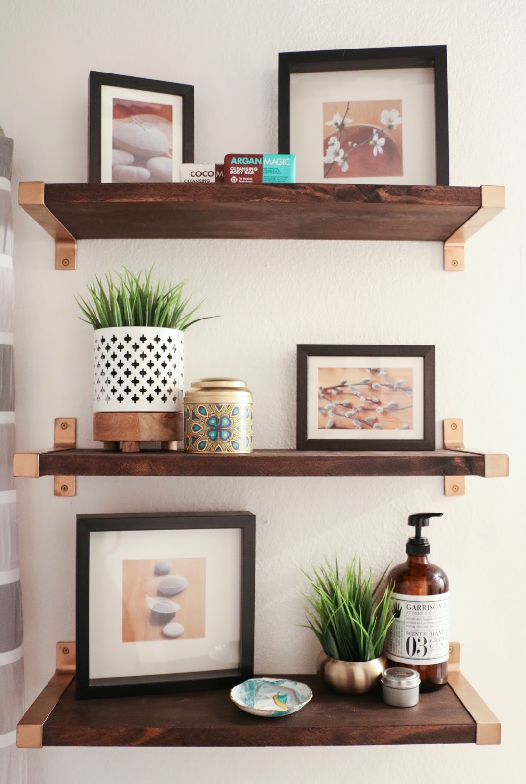 hack it walnut and gold shelves a kailo chic life. Black Bedroom Furniture Sets. Home Design Ideas