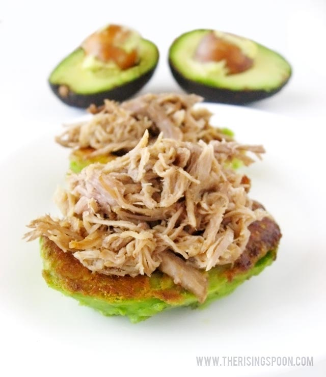 Pulled Pork Stuffed Avocado Halves