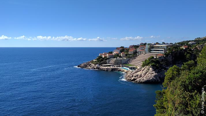 Вид на часть города со смотровой площадки, Дубровник