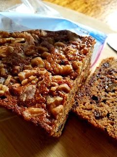 Cherry Raisin Welsh Tea Cake with a toasty walnut crown!