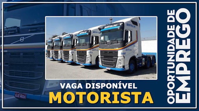 Transportes Bertolini abre vagas para Motorista Carreteiro