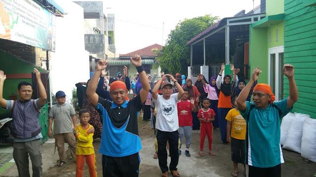 Berkhidmat untuk Rakyat, PKS Medan Denai Gelar Senam & Sembako Murah