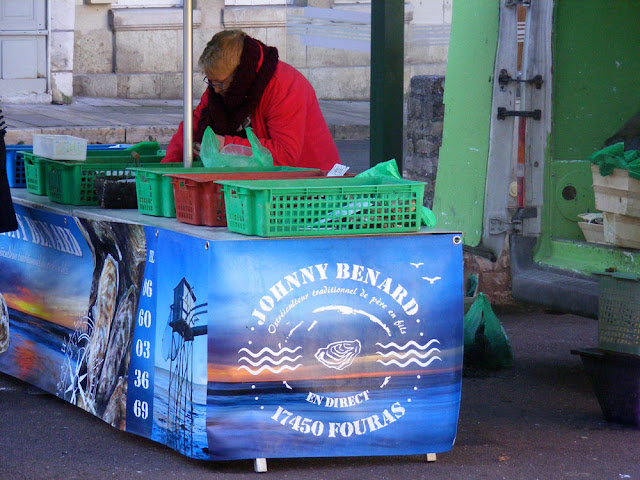 Oyster stall at a village market, Indre et Loire, France. Photo by Loire Valley Time Travel.