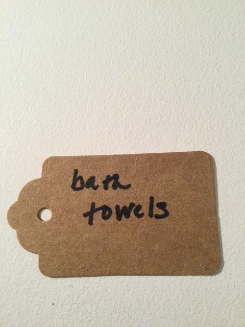 Label for bathroom closet