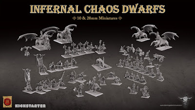 Infernal Chaos Dwarfs & Hobgoblins Miniatures, Kickstarter from Dancing Yak Miniatures