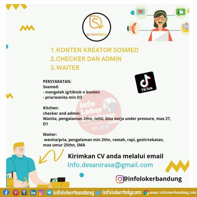 Lowongan Kerja De Sanirasa Bandung Juni 2021