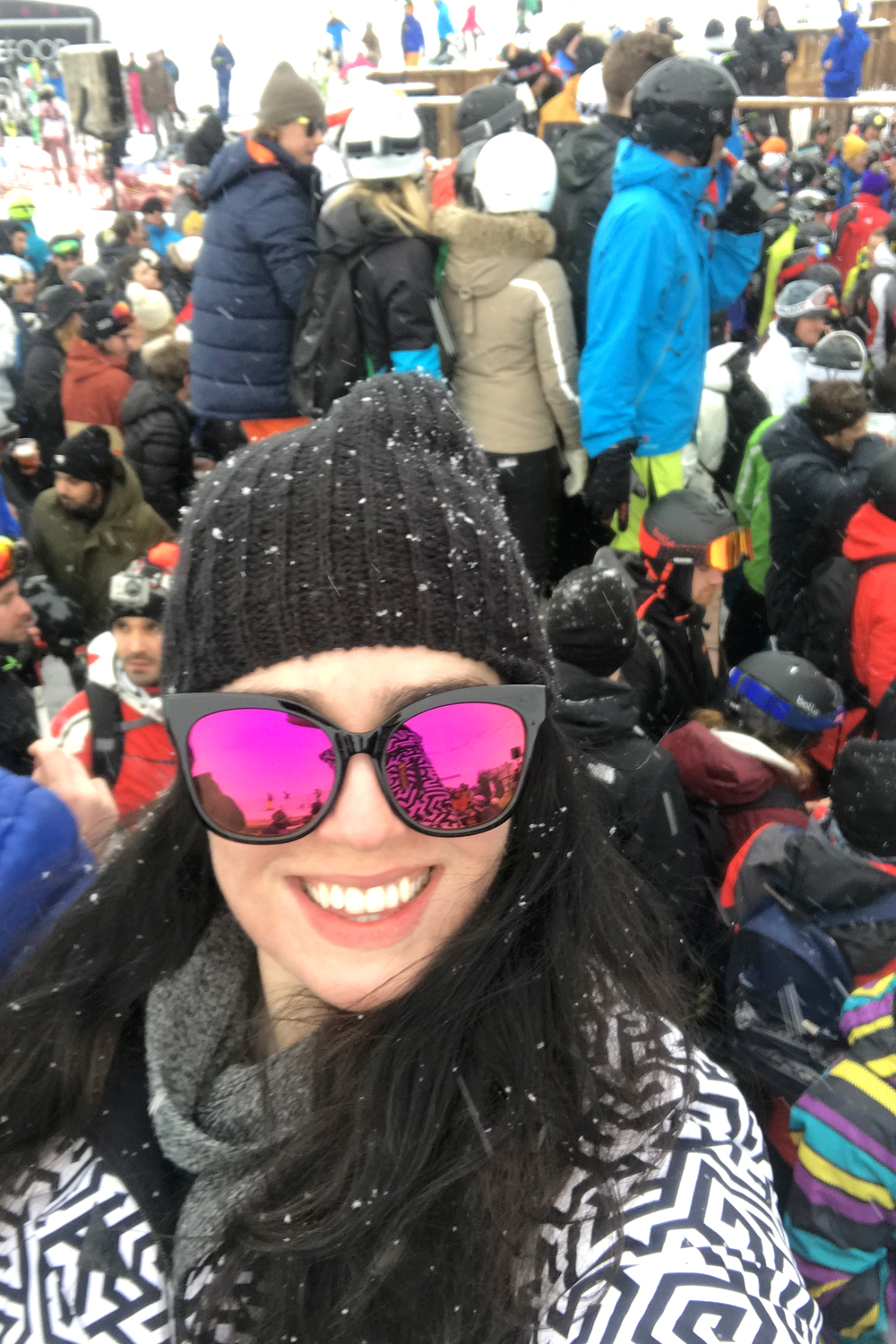 Emma Louise Layla at La Folie Douce in Val Thorens, France - travel & lifestyle blog