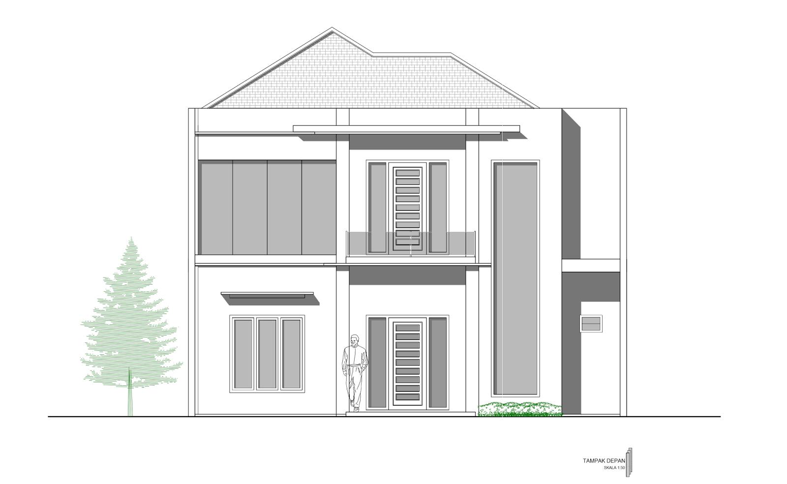 Contoh Gambar Kerja Lengkap Rumah 2 Lantai Mewah Di Yogyakarta