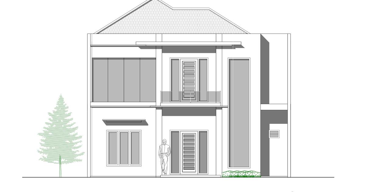 Desain Rumah 2 Lantai Dwg  contoh gambar kerja lengkap rumah 2 lantai mewah di