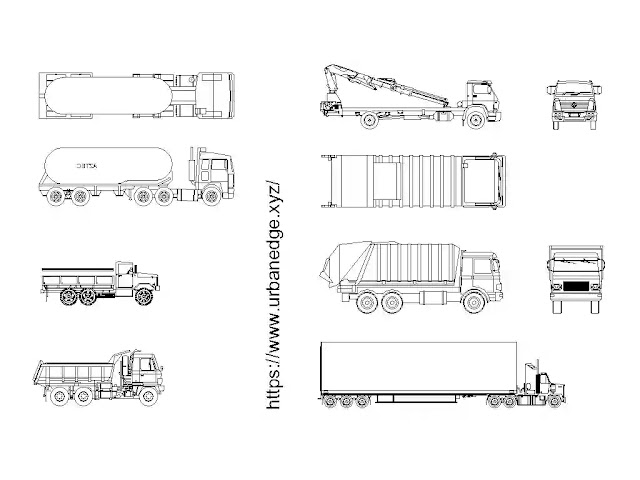 Trucks Tankers cad blocks free download - 10+ truck dwg models