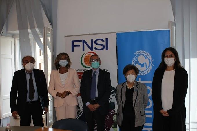 Comunicazione e Infanzia: siglato protocollo Unicef-FNSI