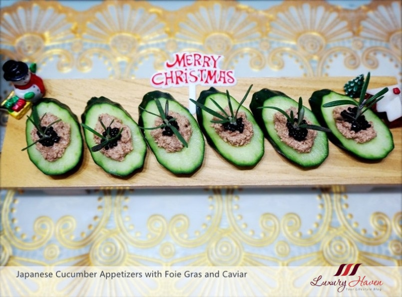 japanese cucumber appetizers with foie gras caviar recipe