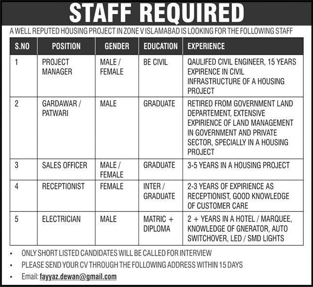 Zone V Islamabad Latest Jobs 2021- jobspk14.com