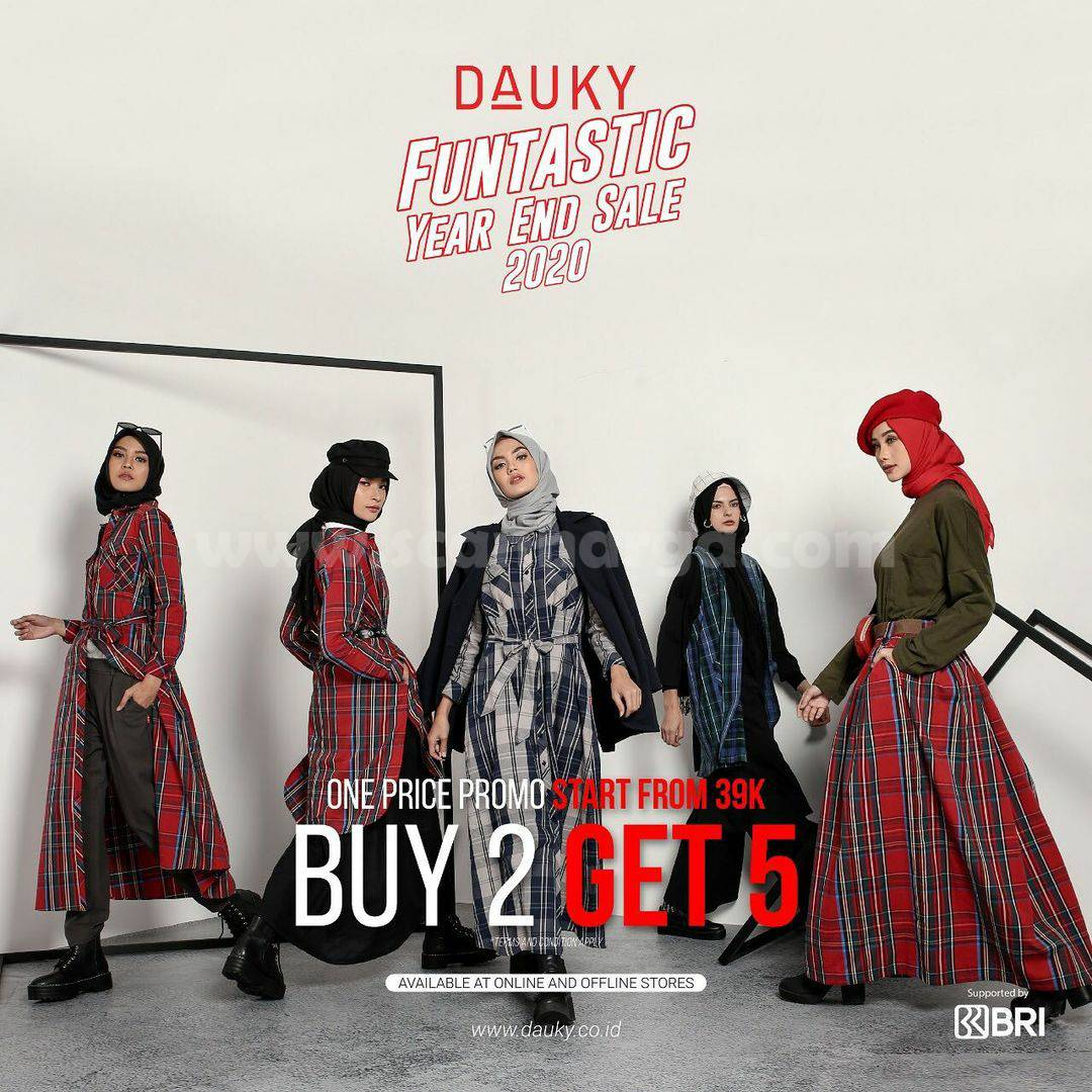 DAUKY Promo FUNTASTIC YEAR END SALE – Buy 2 Get 5