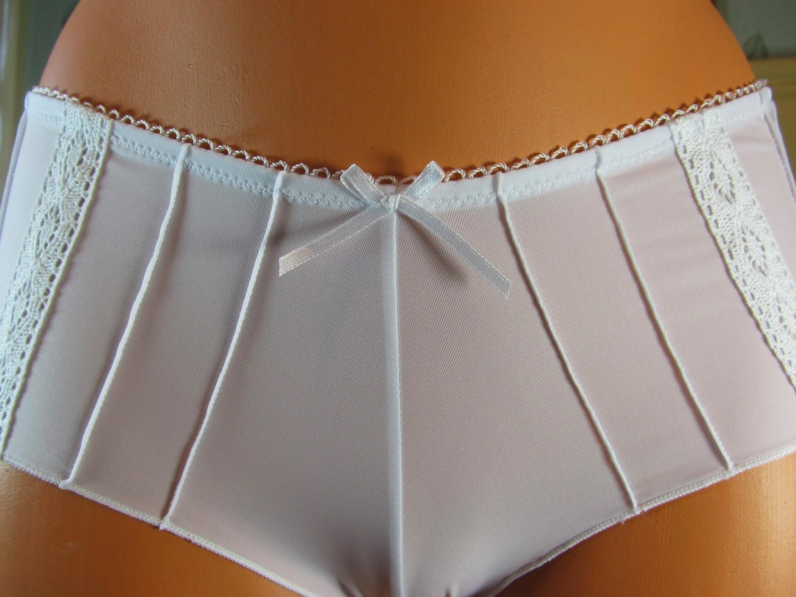 White Nylon Panties 32