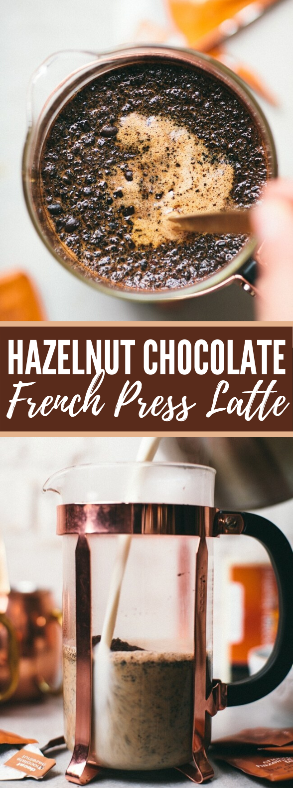 Hazelnut Chocolate French Press Latte #drinks #coffee