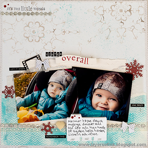 Layers of ink - CSI case file 222 Winter Layout by Anna-Karin