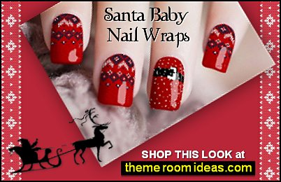 Santa Baby Nail Wraps  Ugly sweater party decorations Christmas party ugly sweaters nail designs