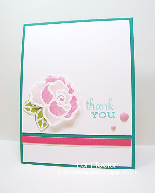 Thank You card-designed by Lori Tecler/Inking Aloud-stamps from Paper Smooches