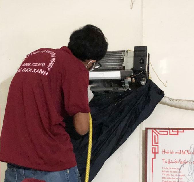 Vệ sinh máy lạnh tại Cẩm Mỹ
