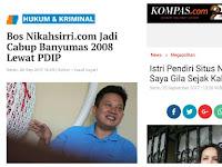 Admin web Nikahsirri Ternyata Eks Cabup PDIP, Istri: Suami Saya Gila Sejak Kalah Pilkada