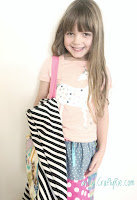a fun quirky bag made from the rubbish fabric scraps that you'd normally throw away!
