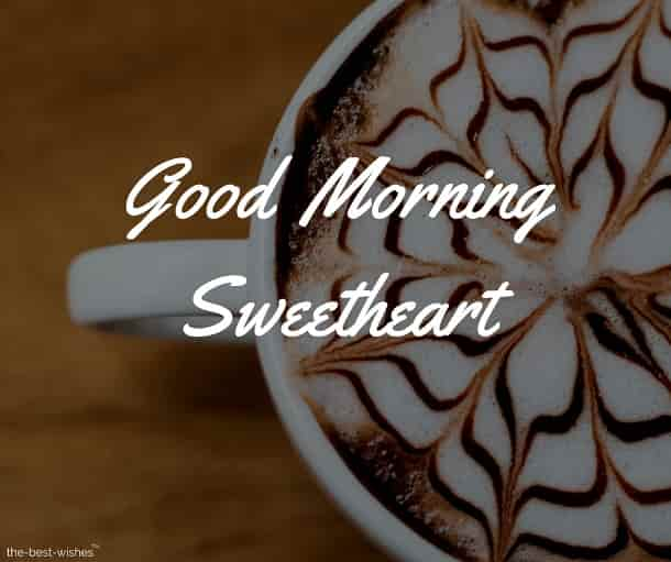 good morning sweetheart with coffee images
