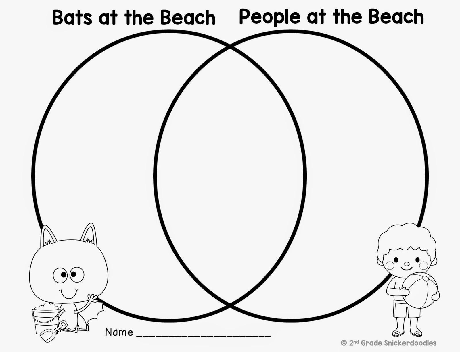 2nd Grade Snickerdoodles Bats At The Beach Freebie