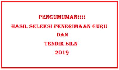 Update terbaru Pengumuman hasil seleksi penerimaan Guru dan Tendik SILN 2019
