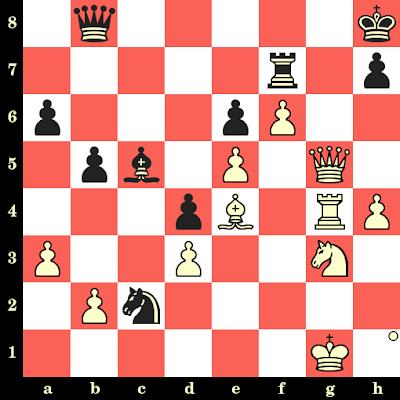 Les Blancs jouent et matent en 4 coups - Sergei Movsesian vs Vitaliy Bernadskiy, Internet, 2020