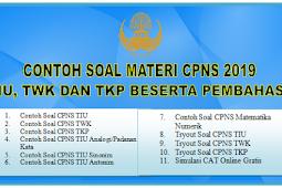 Contoh Soal Materi  CPNS 2019 TIU, TWK dan TKP Beserta Pembahasan