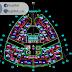 مخطط وصفي لفندق Royal Garden اوتوكاد dwg