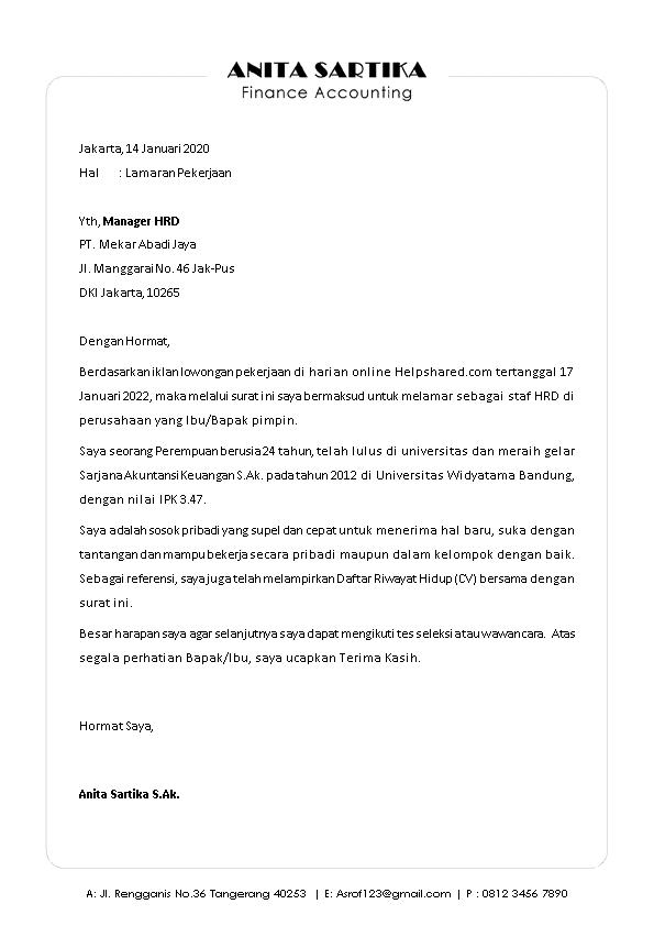 Kop Surat Lamaran Kerja 24