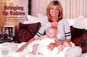 Image: Bringing Up Babies (Cheryl Tiegs and her fraternal twin boys), on People.com