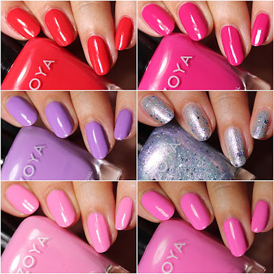 Nail Polish Swatch and Review of  the Zoya Sunshine Collection for Summer 2018
