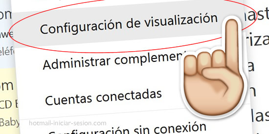 Cómo cambiar opciones de visualización hotmail iniciar sesion