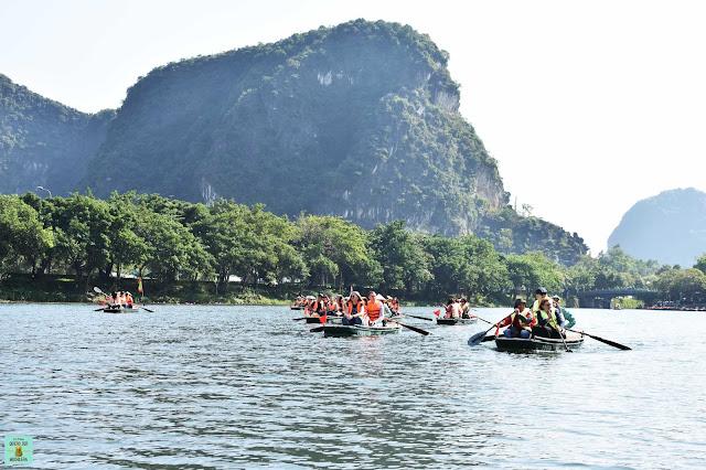 Ruta 1 de Trang An a media mañana, Ninh Binh
