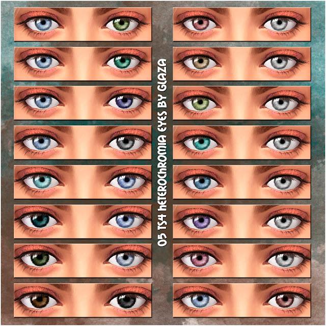 05 TS4 heterochromia eyes by glaza