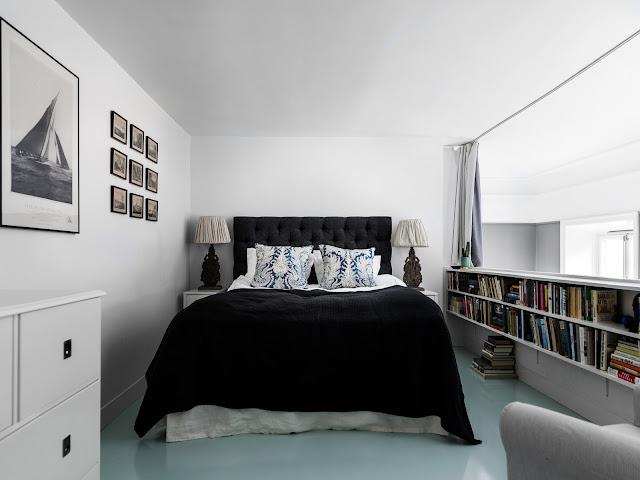 dormitor deasupra bucatariei