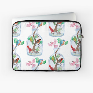 birds in a bottle laptop sleeve