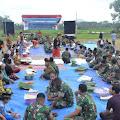 Masyarakat Banyuwangi Bersama TNI Menggelar Tasyakuran Pringati HUT RI Ke 74