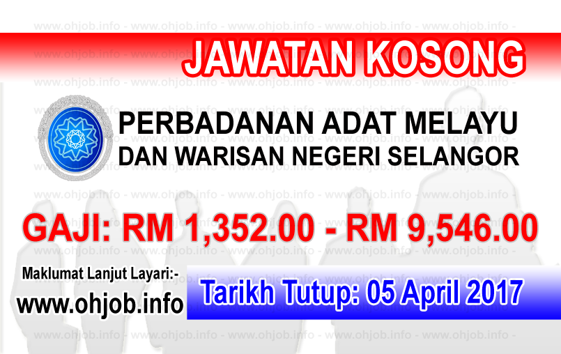 Jawatan Kerja Kosong PADAT - Perbadanan Adat Melayu Dan Warisan Negeri Selangor logo www.ohjob.info april 2017