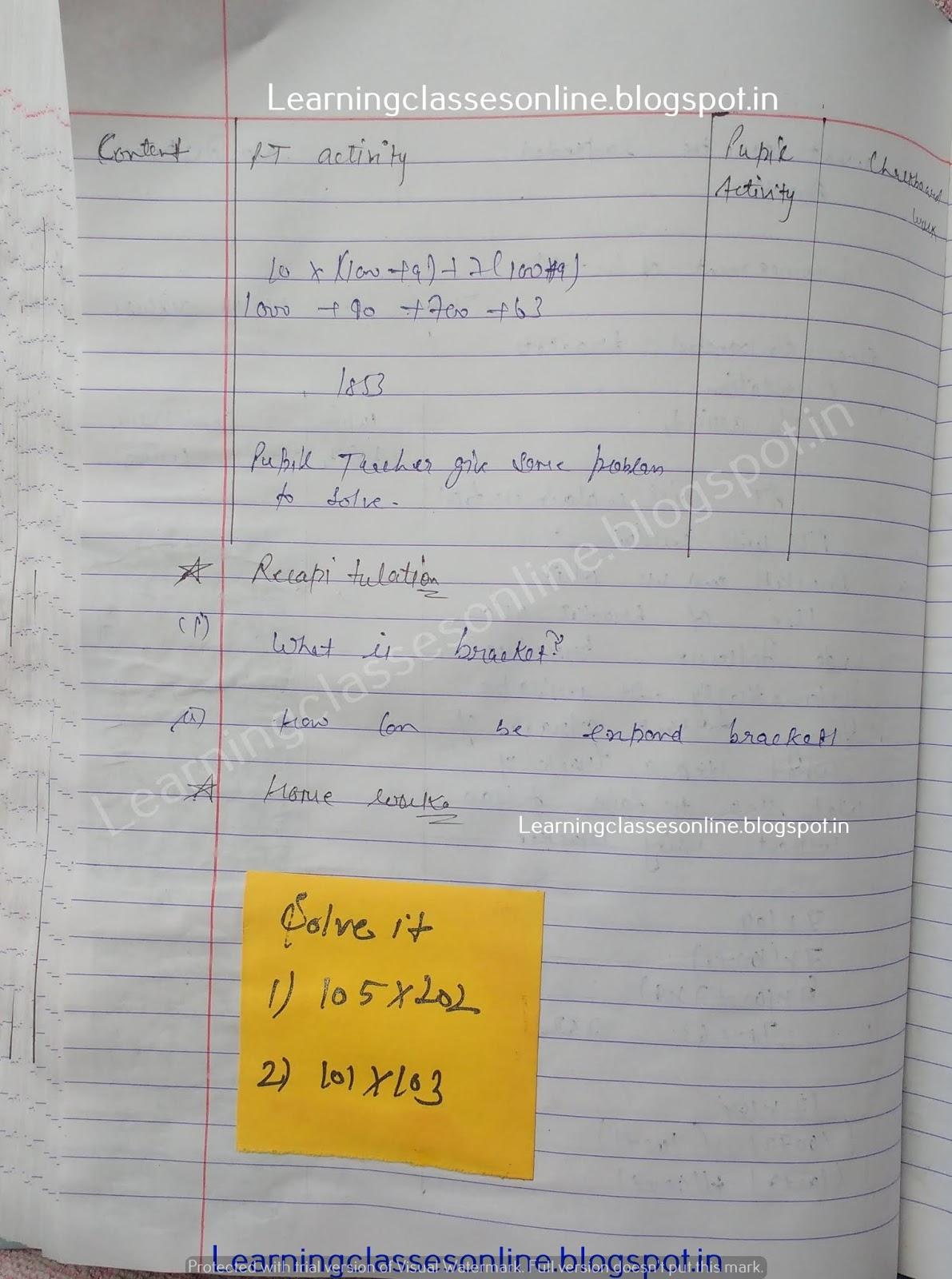Lesson Plan For Mathematics Grade 10,