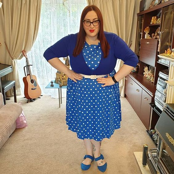 Lindy Bop Blue Polka Dot Audrey