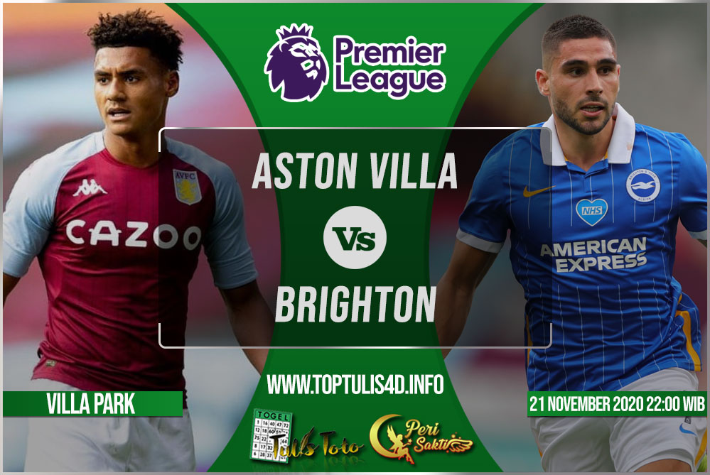 Prediksi Aston Villa vs Brighton 21 November 2020