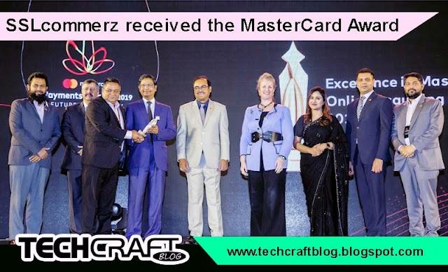 SSLcommerz received the MasterCard Award 2019